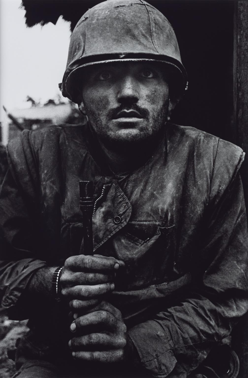 Shell-shocked US Marine, The Battle of Hue 1968, printed 2013 by Don McCullin born 1935
